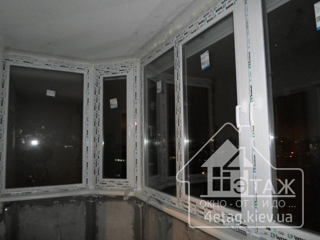 Остекление полукруглого балкона в Киеве ул. Донца 2