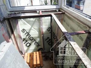 Остекление балкона с выносом в Ирпене - оконная компания