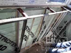 Остекление балкона Хрущевка с выносом - монтажниками компании 4 этаж