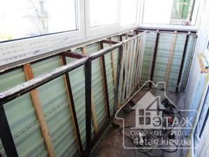 Остекление балконов Борисполь с выносом - оконная компания