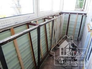 Остекление балкона с выносом Буча - оконная компания