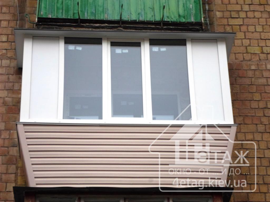 Цены на остекление балкона - самые низкие в киеве и области!.