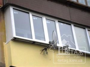 Надежное остекление балкона Киев со скидками