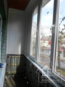 Остекление балкона в Киеве специалистами компании 4 этаж