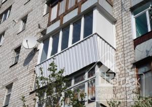 Остекление балкона с выносом Боярка - оконная компания