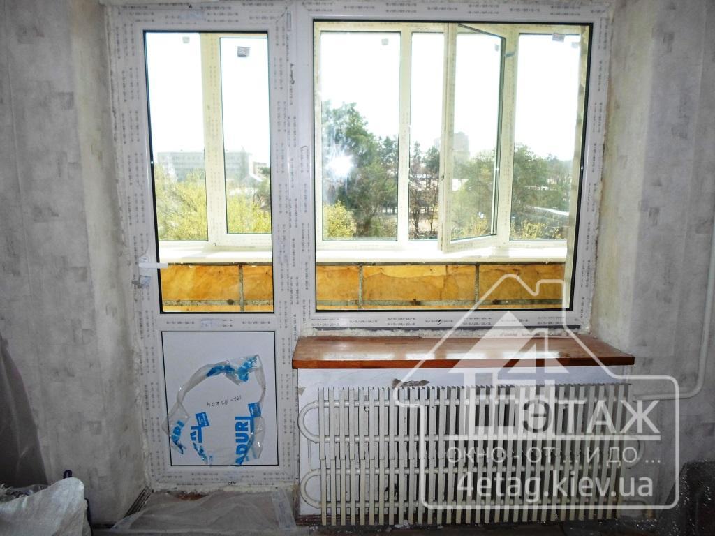 """Балконный блок в киеве, цена от тм """"4 этаж окно от и до""""."""