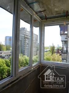 Остекление балкона Киев - способы остекления Г-образного балкона
