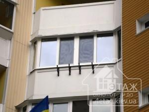 Остекление балкона в Вышгороде - оконная компания