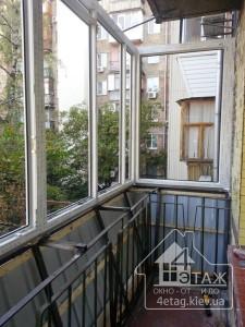 Остекление балкона с выносом от пола в Борисполе - компания