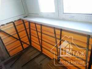 """Остекление балконов с выносом недорого в компании """"4 этаж"""""""