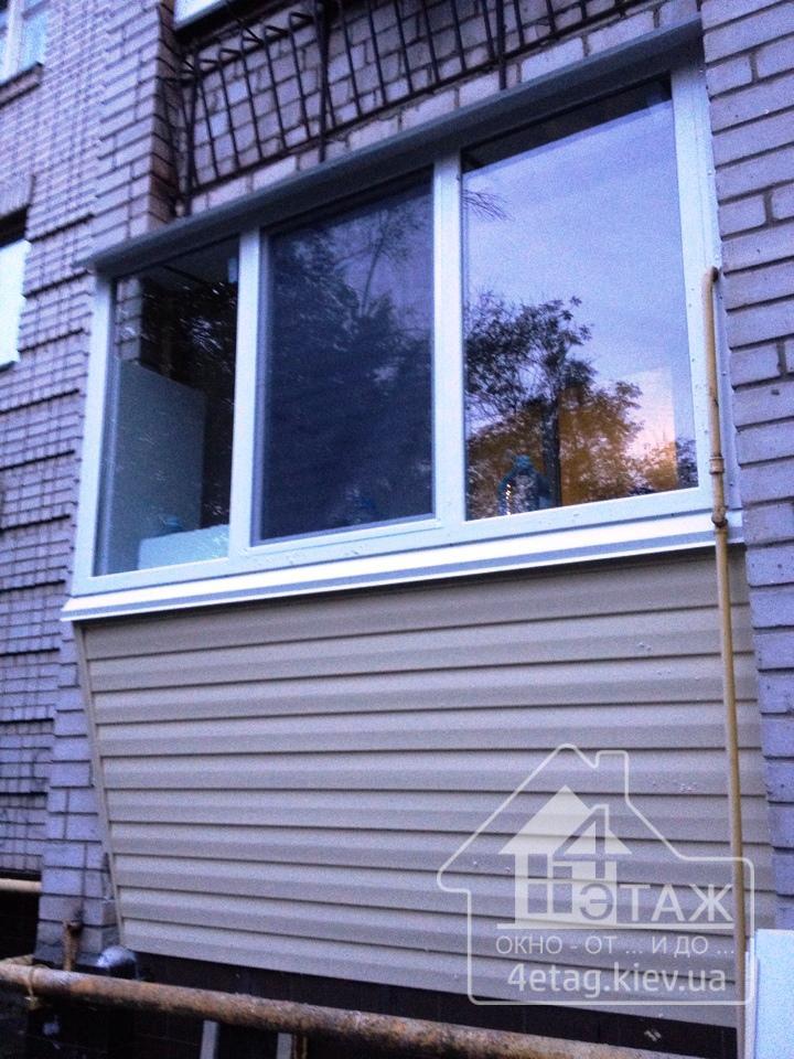 Остекление балкона боярка. французское остекление балкона бо.